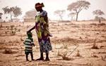 El Sahel, madre con criatura